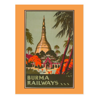 Burma Myanmar Temples | Vintage Travel Poster Postcard