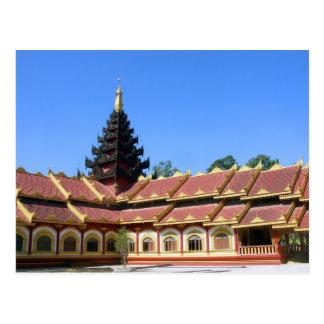 Burmese Buddhist Temple Phra Jow La Keng Postcard