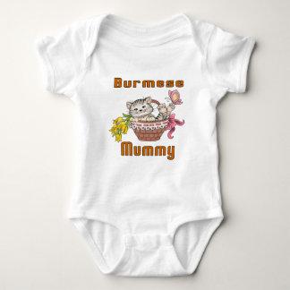 Burmese Cat Mom Baby Bodysuit