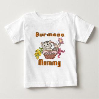 Burmese Cat Mom Baby T-Shirt