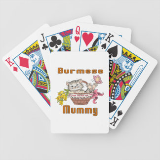 Burmese Cat Mom Bicycle Playing Cards