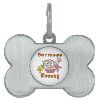 Burmese Cat Mom Pet Name Tag