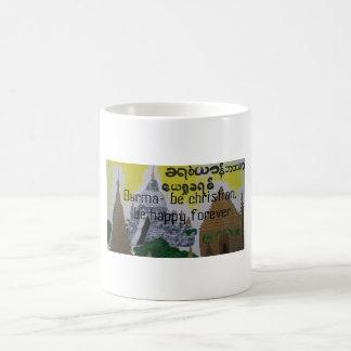 Burmese christian cup/mug basic white mug