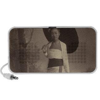 Burmese lady iPod speaker