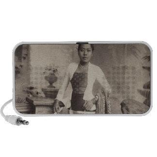 Burmese lady iPhone speakers