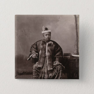 Burmese magistrate, late 19th century 15 cm square badge