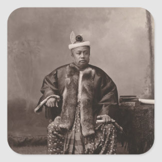 Burmese magistrate, late 19th century square stickers