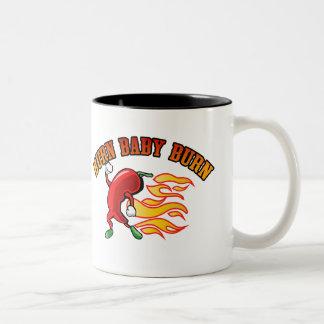 Burn Baby $18.95 Two Toned Coffee Mug