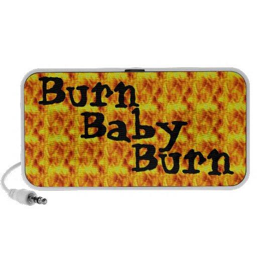 Burn, Baby, Burn 1970's Retro Laptop Speakers