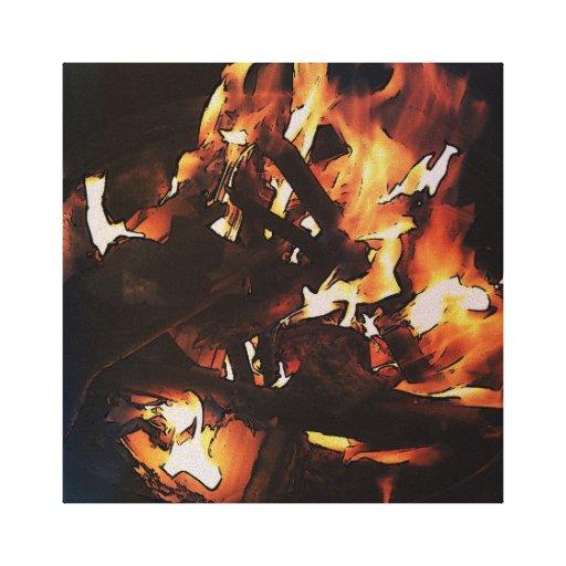 Burn baby burn canvas prints