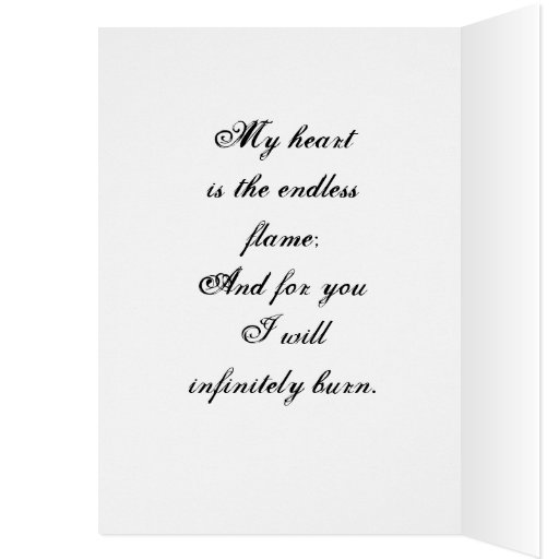 Burn baby burn Card with quote