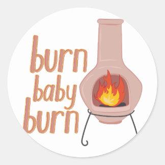 Burn Baby Burn Round Sticker