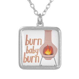 Burn Baby Burn Silver Plated Necklace