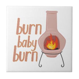 Burn Baby Burn Small Square Tile