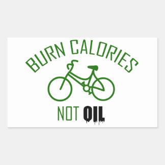 Burn Calories Not Oil Rectangular Sticker