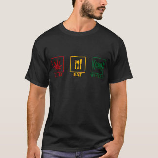 BURN EAT WOBBLE RASTA T-Shirt