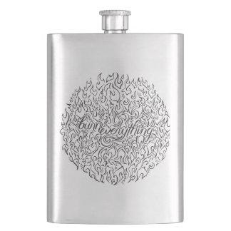 Burn Everything Circle Classic Flask