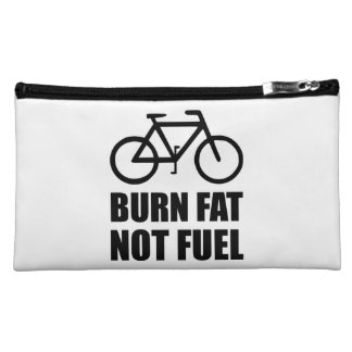 Burn Fat Not Fuel Bike Cosmetic Bag