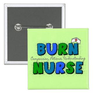 Burn Nurse Gifts--Artsy and Whimsical Design 15 Cm Square Badge