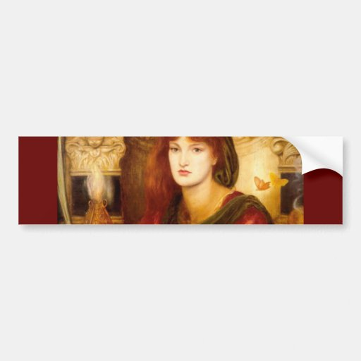 Burn Red Woman antique painting Bumper Sticker