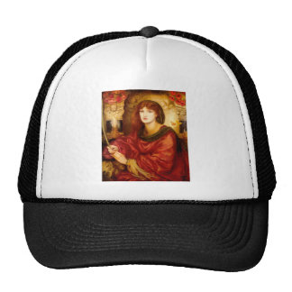 Burn Red Woman antique painting Mesh Hats