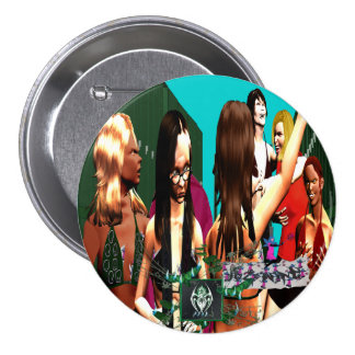 BURN STORY Feather Weights W Foul Mouthed FairyT Pinback Button