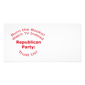 Burn the Books Custom Photo Card
