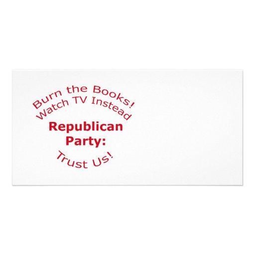 Burn the Books Photo Card Template
