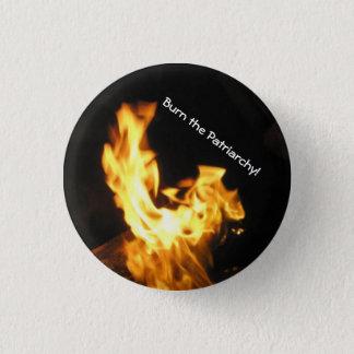 Burn the Patriarchy 3 Cm Round Badge