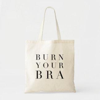 Burn Your Bra (serif font) Tote Bag