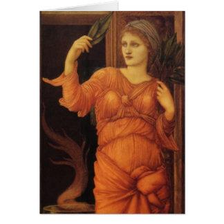 Burne Jone Sybilla Delphica fine art Card