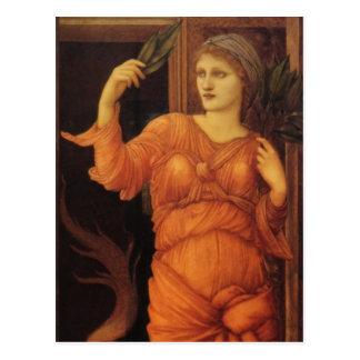 Burne Jone Sybilla Delphica fine art Postcard
