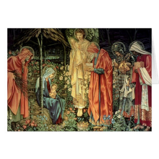 Burne-Jones, Adoration of the Magi Card