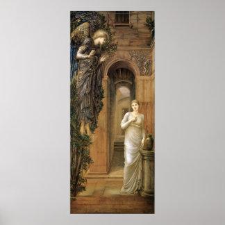 Burne-Jones Annunciation CC0433 Angel Poster