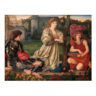 Burne-Jones The love song CC0792 Pre-Raphaelite Postcard