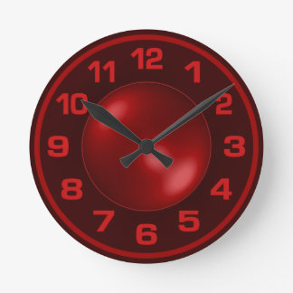 Burned Red wall clock