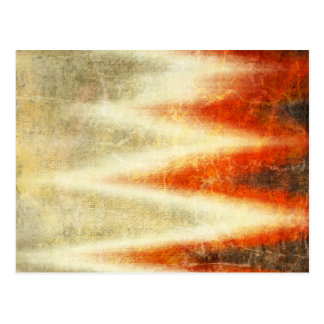 Burned Zig Zag Fabric Pattern Postcard