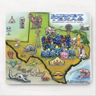 Burnet TEXAS Map Mouse Pad