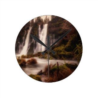 Burney Falls Down Stream Round Clock
