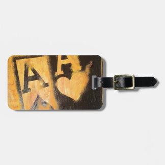 Burnig Aces Luggage Tag
