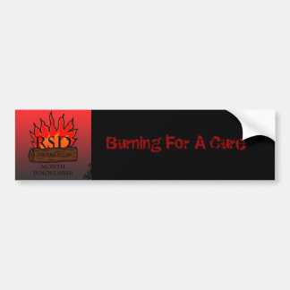 Burninf for the Cure Bumper Sticker