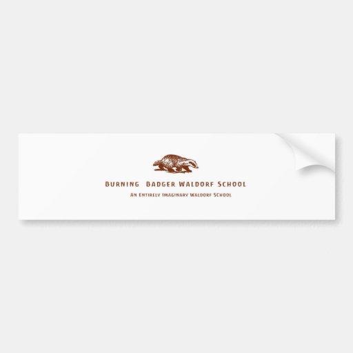 Burning Badger Waldorf School Logo Bumper Stickers