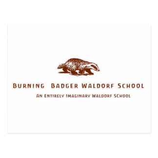 Burning Badger Waldorf School Logo Post Cards