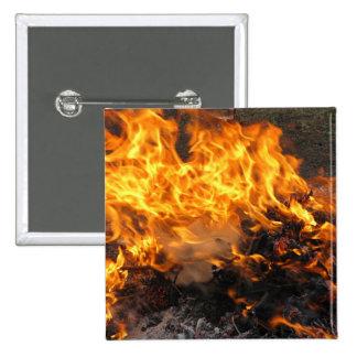 Burning Brush 15 Cm Square Badge