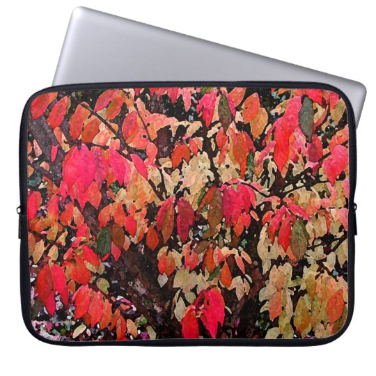 Burning Bush Abstract Laptop Sleeve