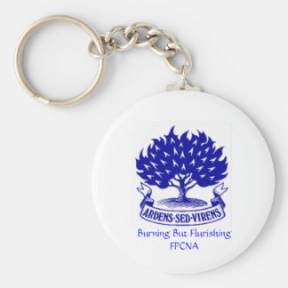 Burning Bush Basic Round Button Key Ring