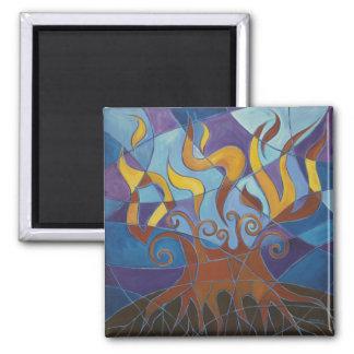 Burning Bush Mosaic II Magnet