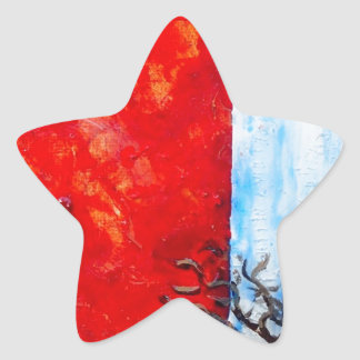 Burning Bush Star Sticker