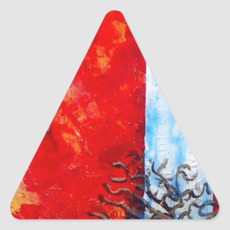 Burning Bush Triangle Sticker