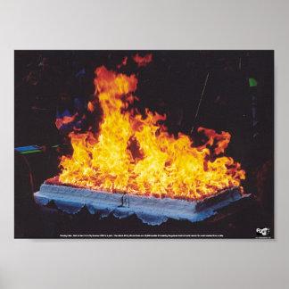 Burning Cake Posters